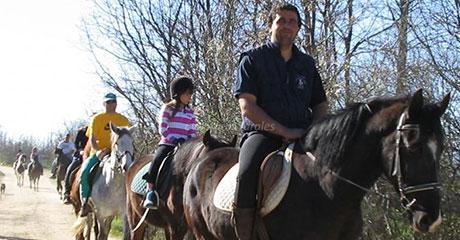 Excursión en caballo a Espinar